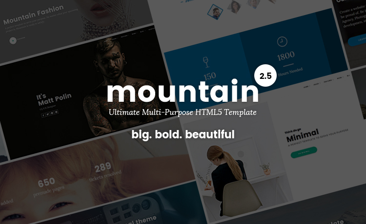 Mountain - The Ultimate Multi-purpose HTML5 Template for professional