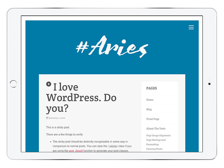 Aries---wordpress-theme-for-a-beautiful-blog
