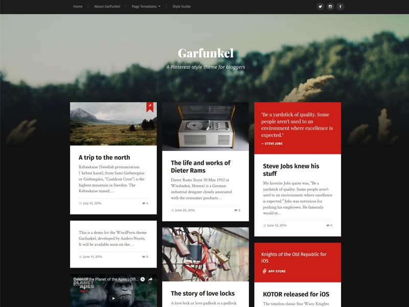 Masonry Grid Style Free Responsive WordPress Blog Theme