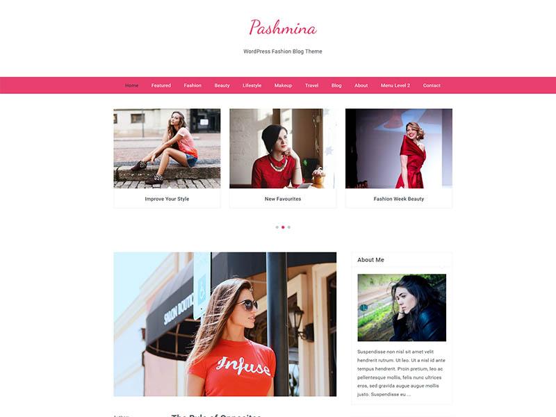 Free Fashion Blog WordPress Theme