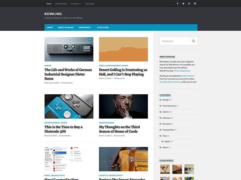 Free Responsive Marketing Blog WordPress Theme