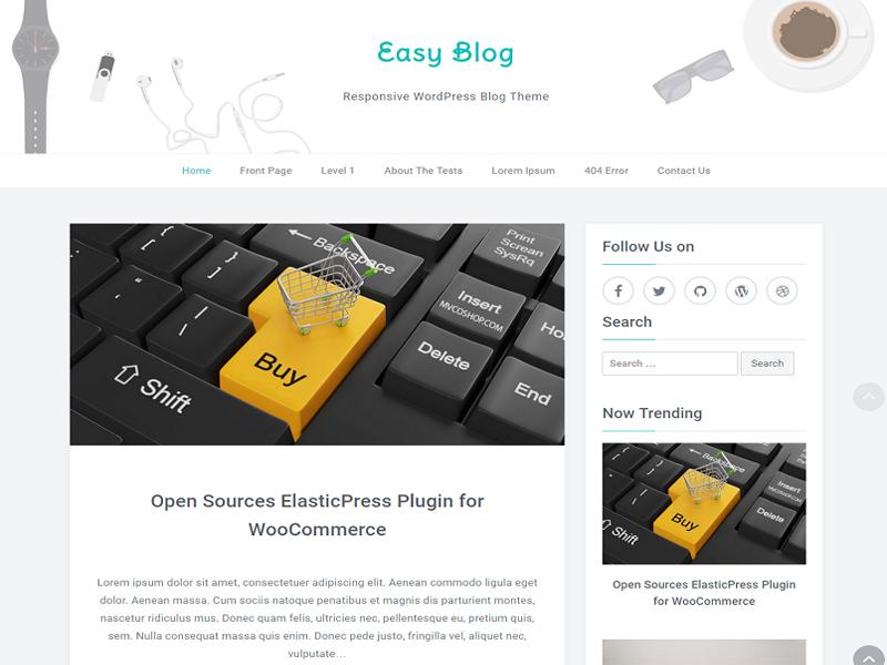SEO Friendly Free WordPress Blog Theme Easyblog
