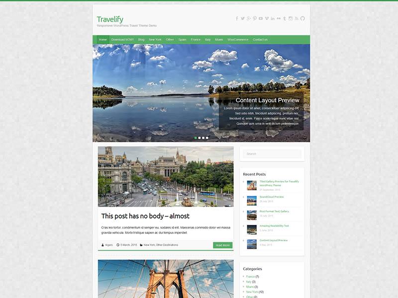 free WordPress theme for travel blogs