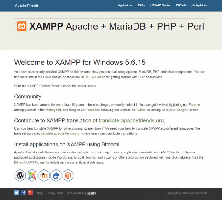 Installing WordPress in XAMPP