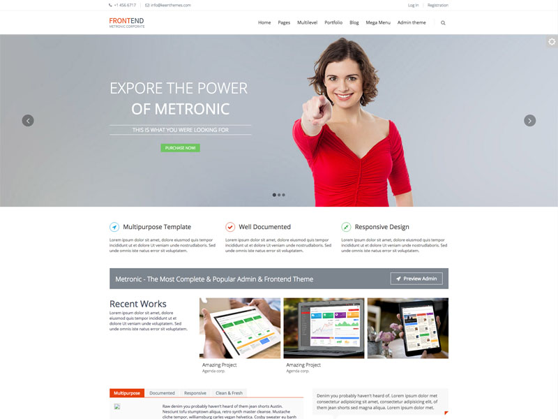 Best free multipurpose bootstrap corporate business template frontend wajeb Gallery