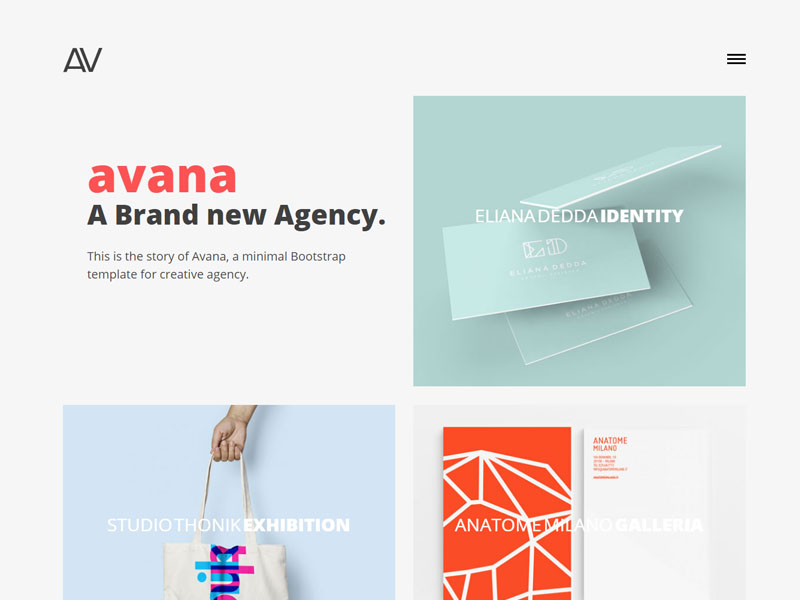 Avana Free Responsive Bootstrap Agency Template Download - Personal will template free