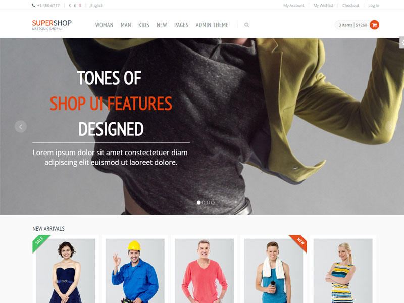 Free Responsive eCommerce Shop Bootstrap Template - Supershop