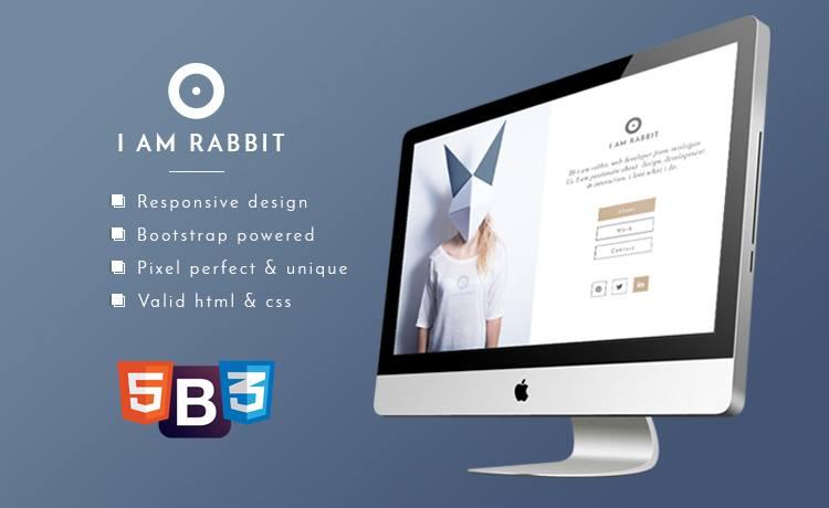 Rabbit - Free Bootstrap Personal Portfolio Template for Creative Personal  Portfolio Website