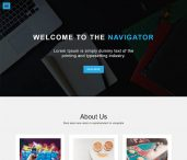 simple one page bootstrap template free download feature-image