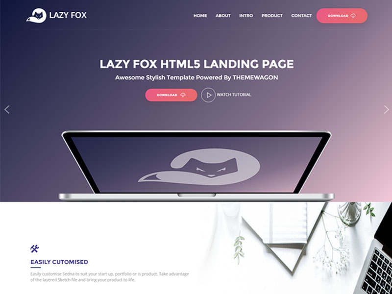 Free Product App Landing HTML5 Bootstrap Template