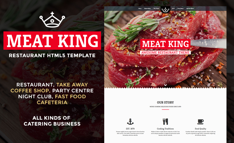 Bootstrap Powered Restaurant Website Template