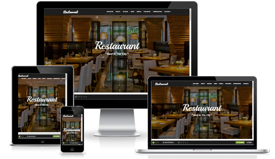 Elegant Restaurant Website Template With Html5 Bootstrap 3