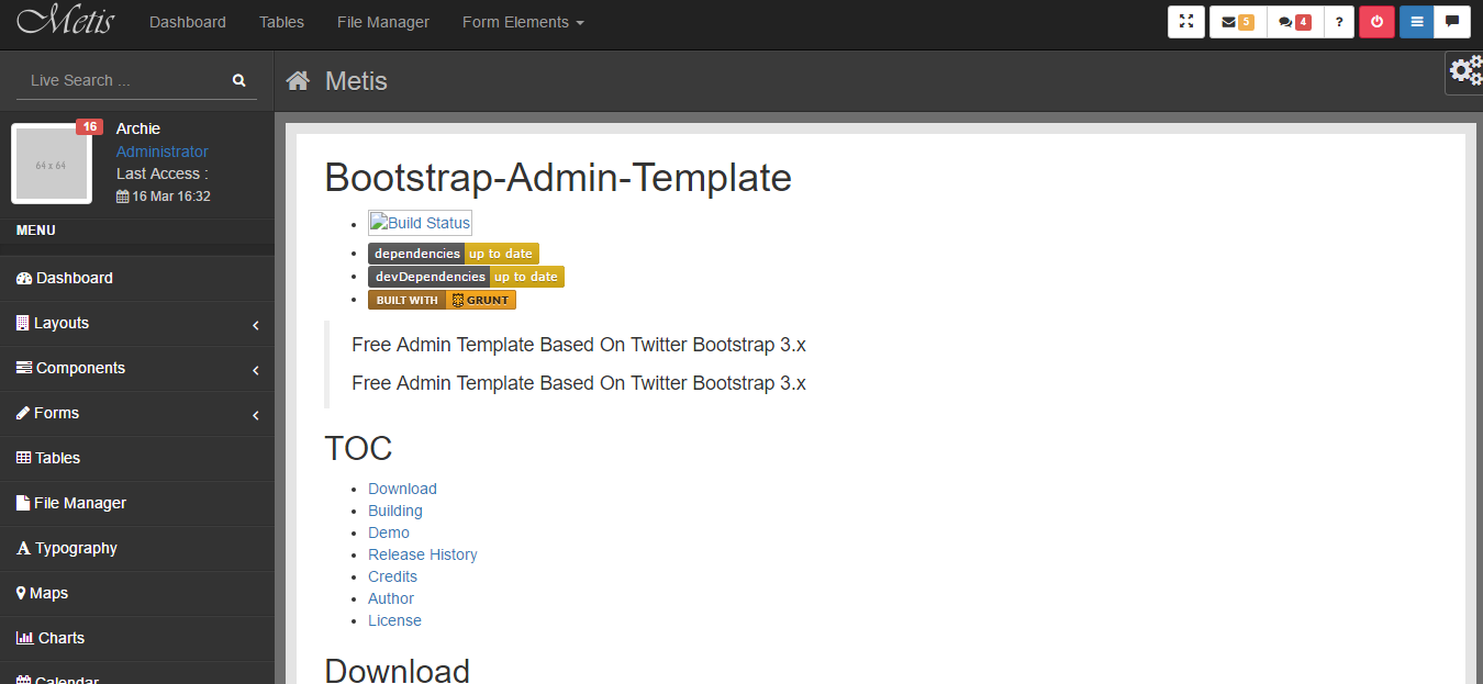Top 10 Free Admin Dashboard Backend Bootstrap Html5 Templates In 2018