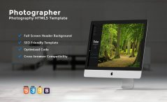 Mobile Friendly Photography Website Template