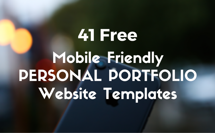 41 Free High Quality Responsive Personal Portfolio Website HTML5 Bootstrap Templates 2017