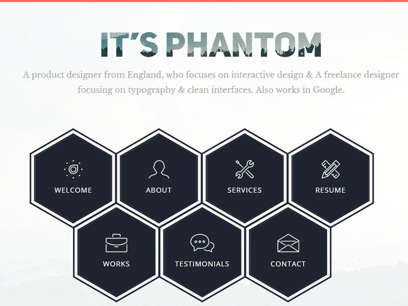 Unique Personal HTML5 Bootstrap Template