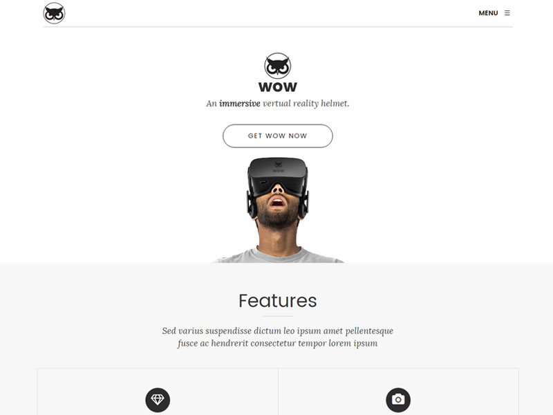 wow product landing html5 bootstrap template free download