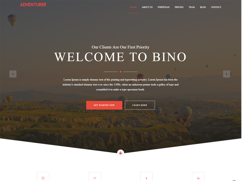 Bino - Creative Free Bootstrap Template for agency website