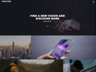 free HTML5 Bootstrap template for an unconventional website