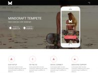 High-Quality App Landing Bootstrap Template Free Download - Mind Craft
