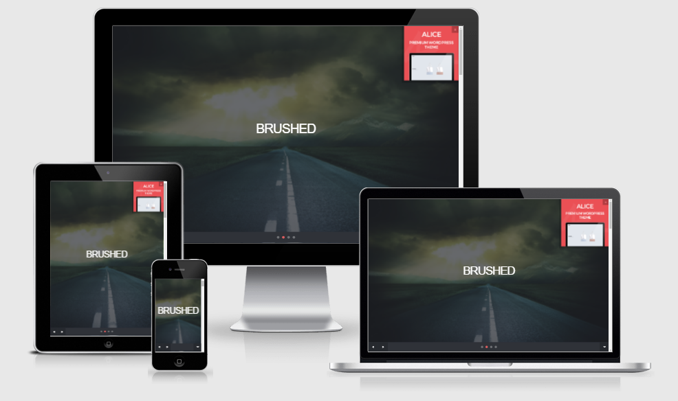 Brushed - Free responsive template