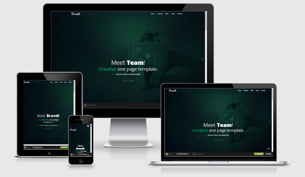 business free one page html5 responsive bootstrap template