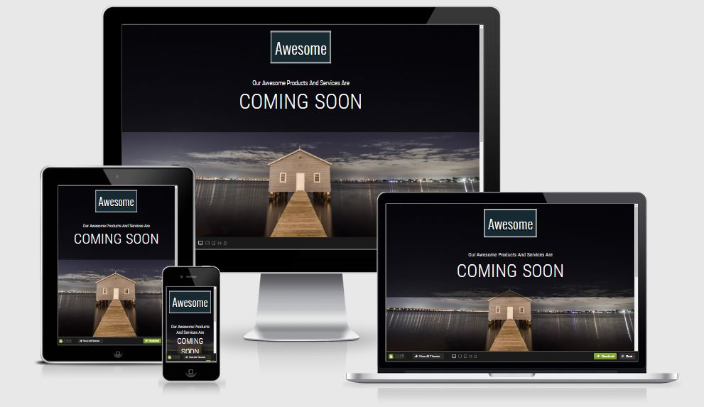 Awesome coming soon template free download 2017