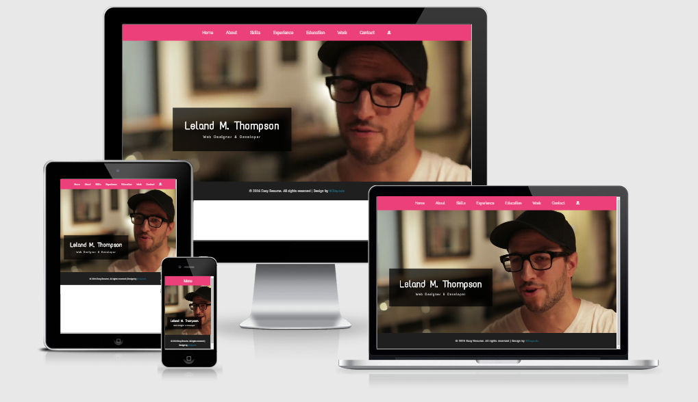 Easy Resume - Free responsive template