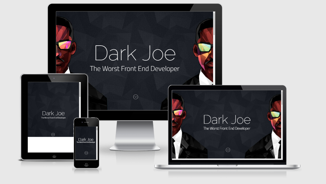 Dark Joe - Free responsive template