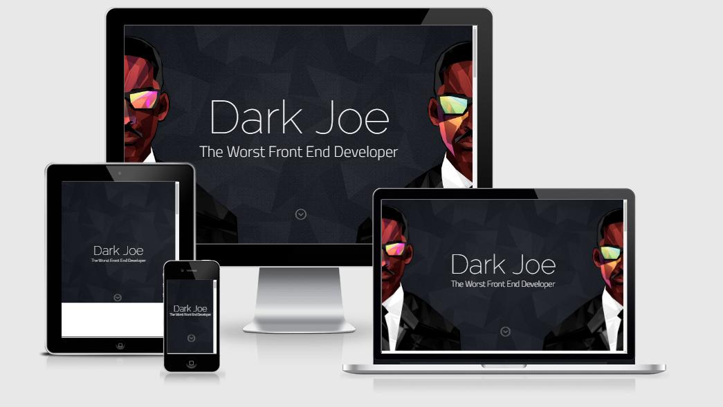 Dark Joe - Free responsive template