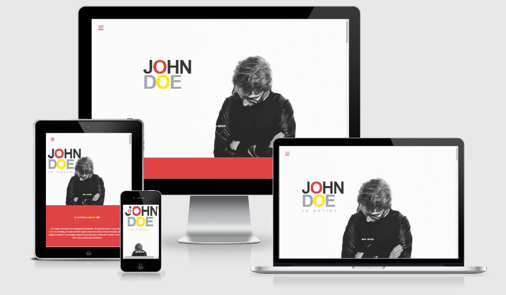 JohnDoe - Free responsive template