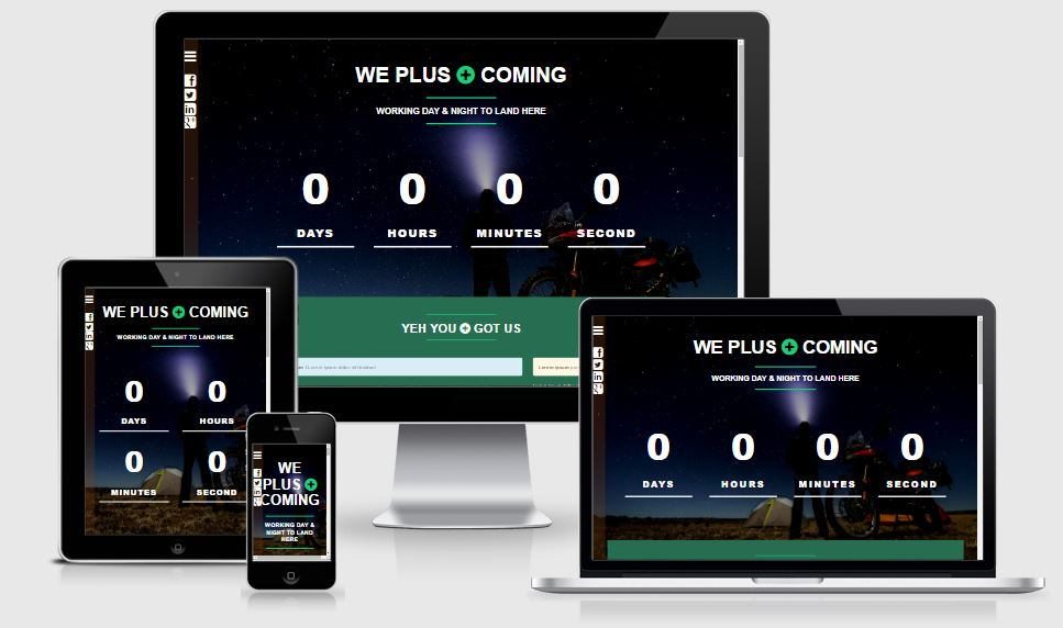 We+ Coming coming soon template free download 2017