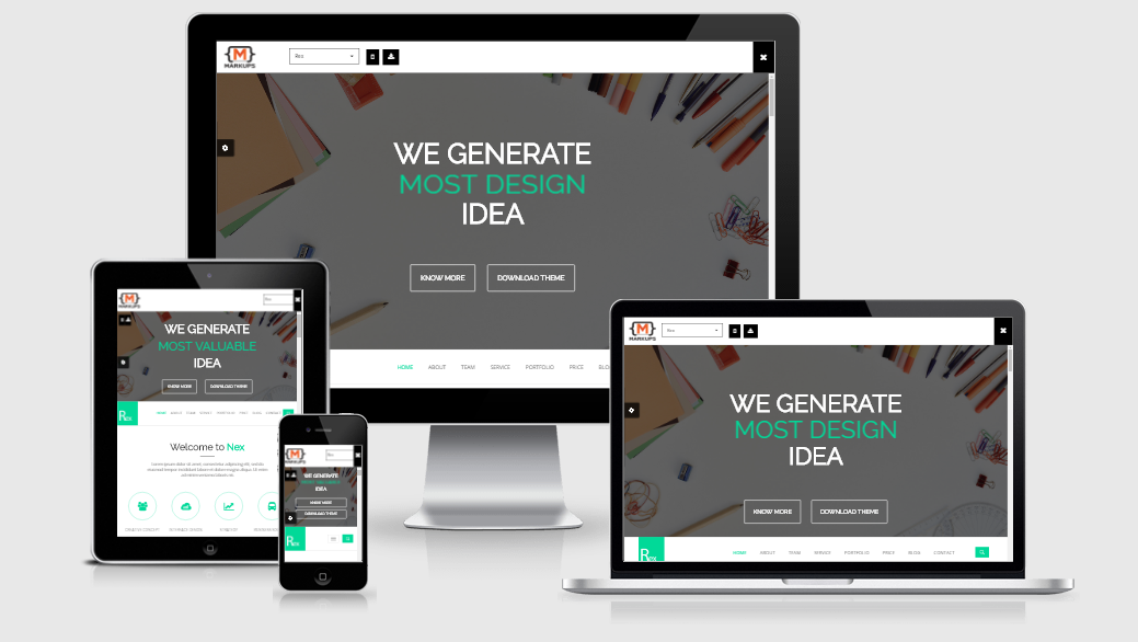 Rex - Free responsive template