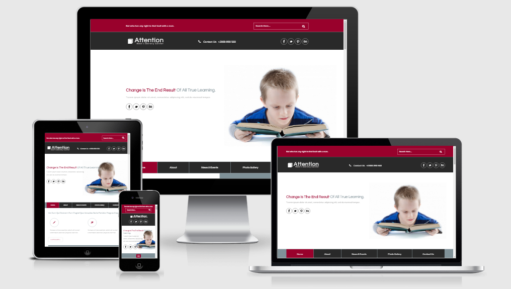 Attention - Free responsive template