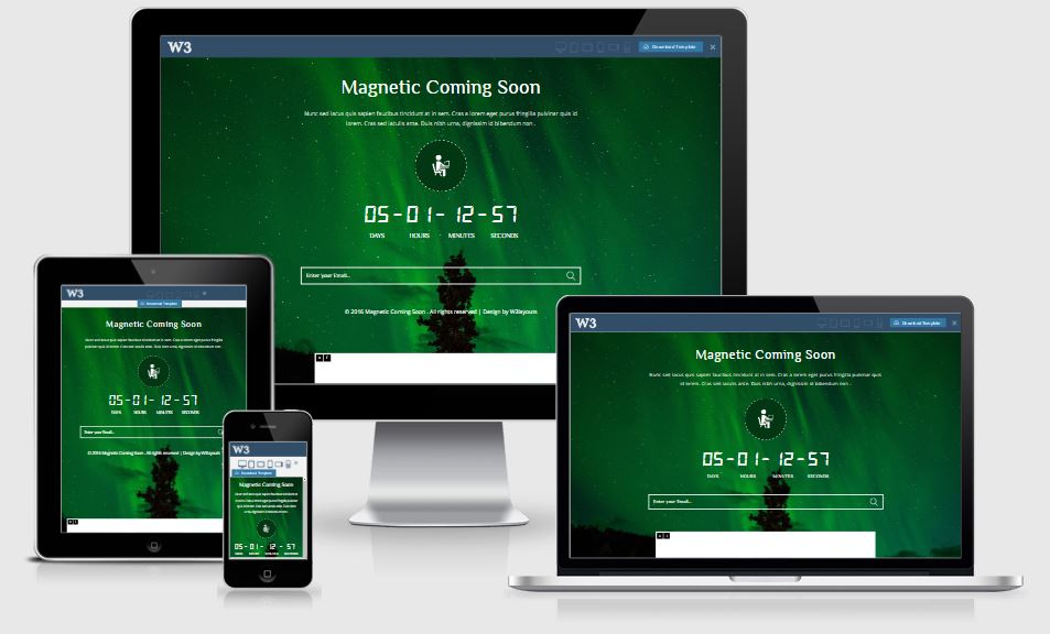 Magnetic coming soon template free download 2017