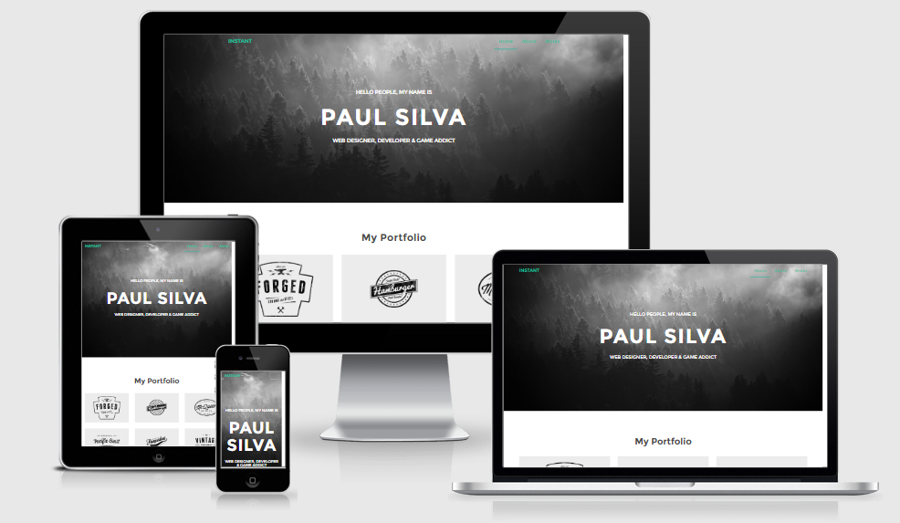 Instant - Free responsive template