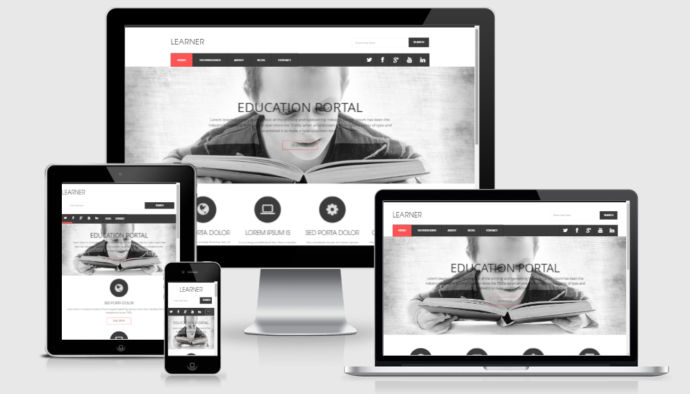 Learner - Free Responsive Template