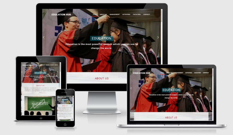 Education hub - Free Responsive Template