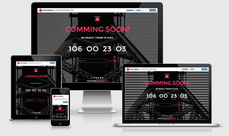 Countdown coming soon template free download 2017