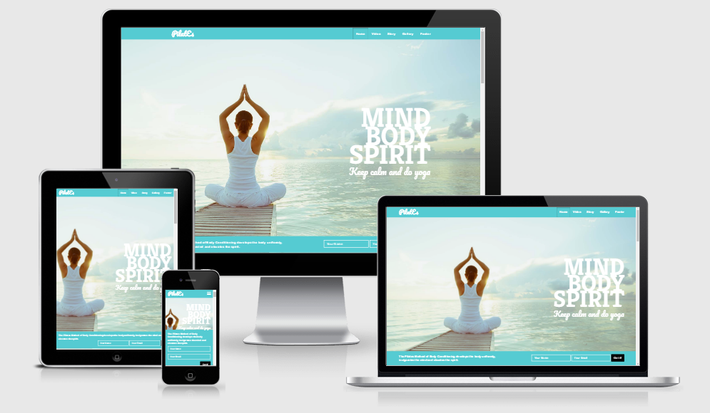 Pilates - Free responsive template