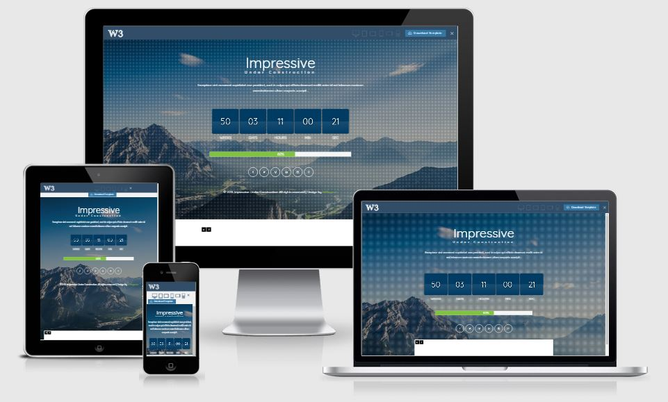 Impressive coming soon template free download 2017
