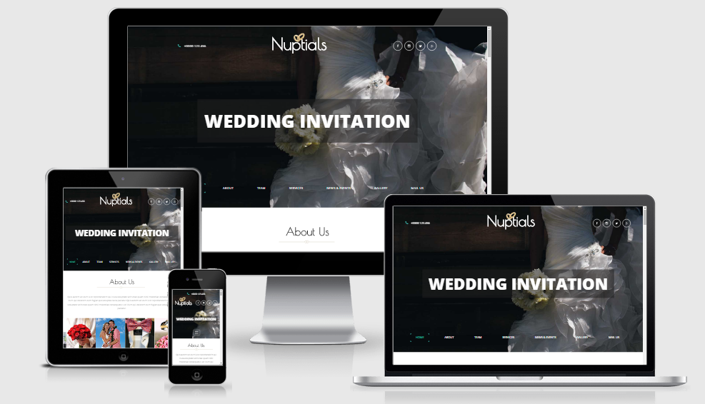 Nuptails - Free Responsive template
