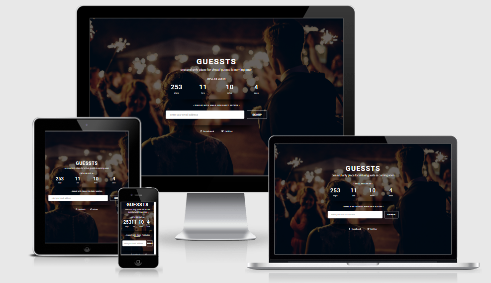 Guessts - Free responsive template