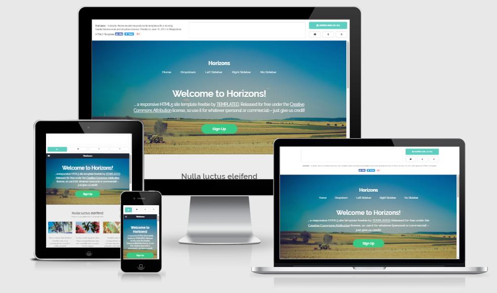 Horizons - Free responsive template