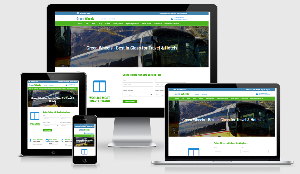 Green Wheels - Free responsive template