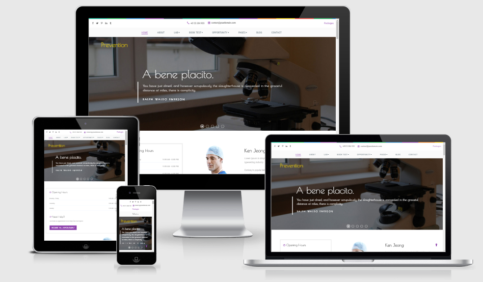 Prevention - Free responsive template