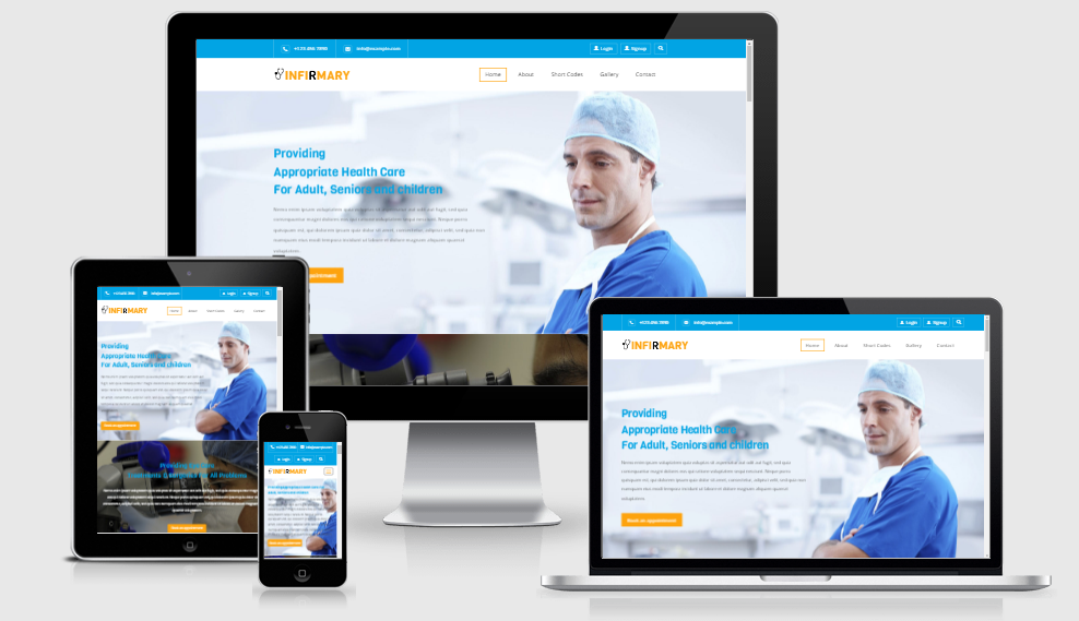 Infirmary - Free responsive template