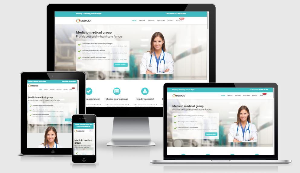 Medicio - Free responsive template