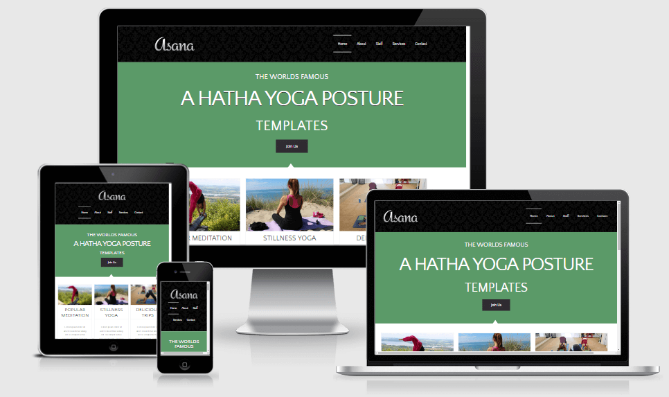 Asana free gym fitness bootstrap website templates