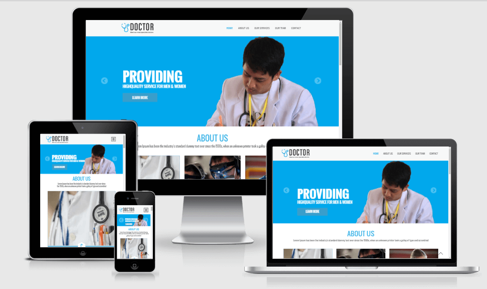 Doctor free gym fitness bootstrap website templates
